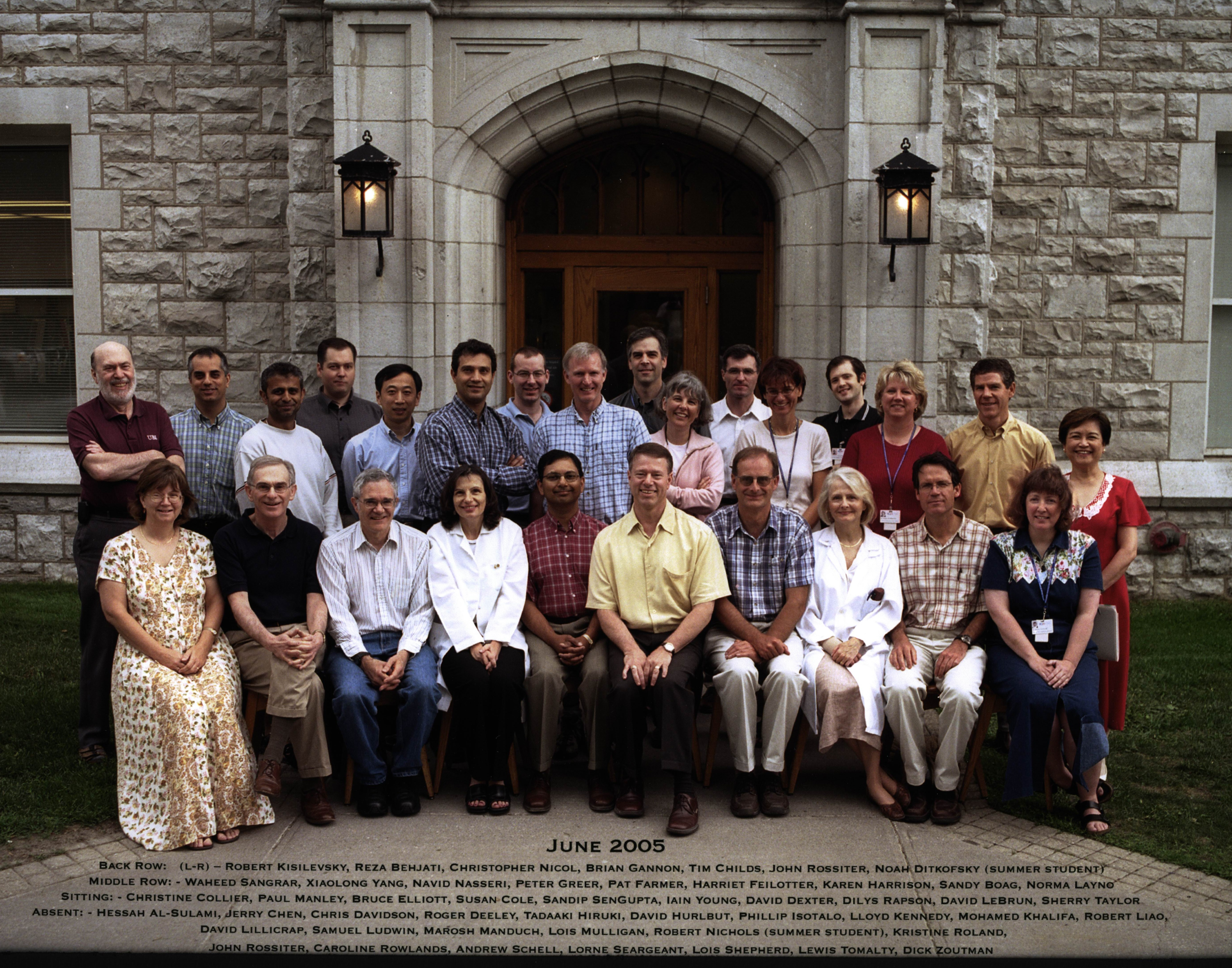 2005 Faculty Group Photo