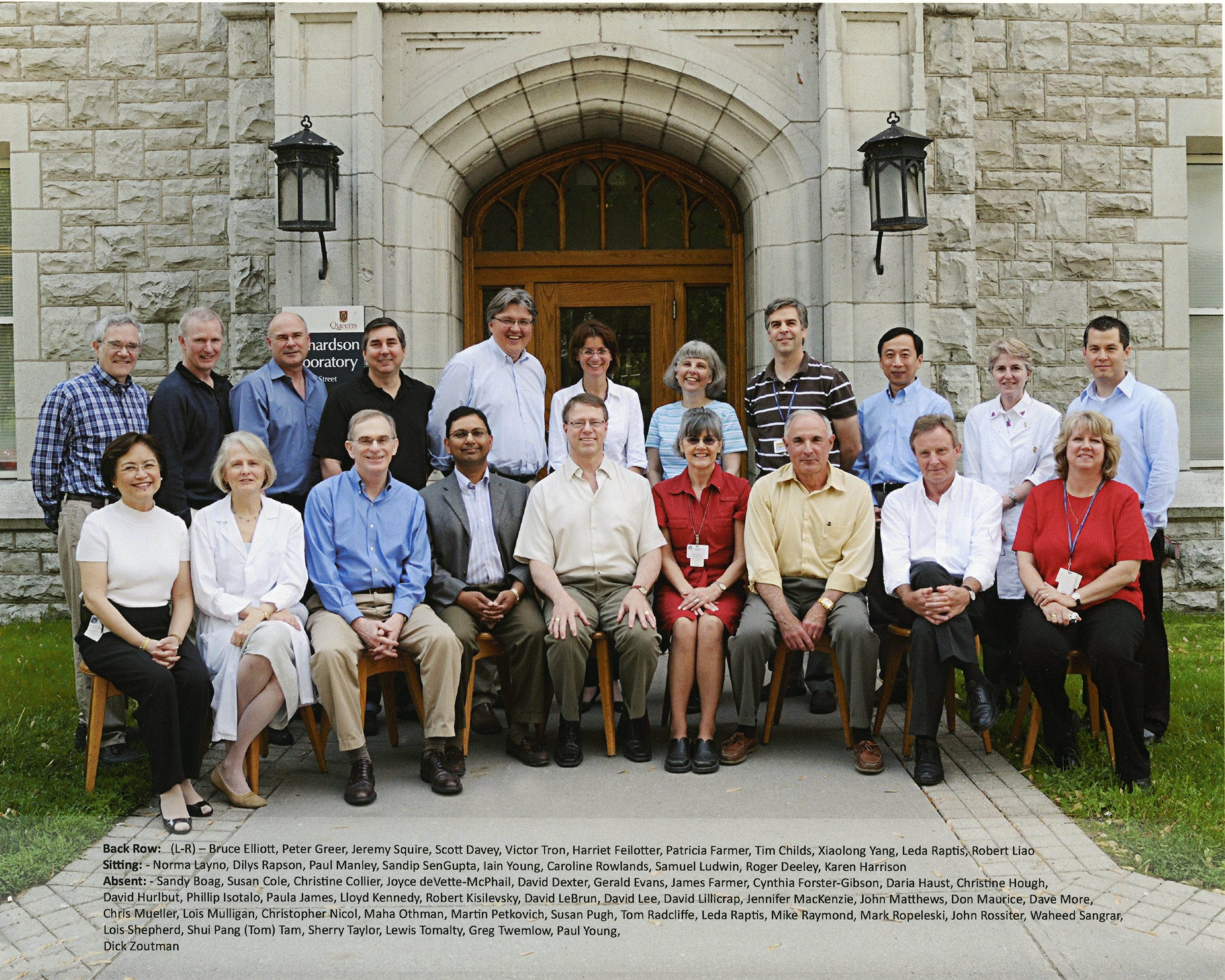 2008 Faculty Group Photo