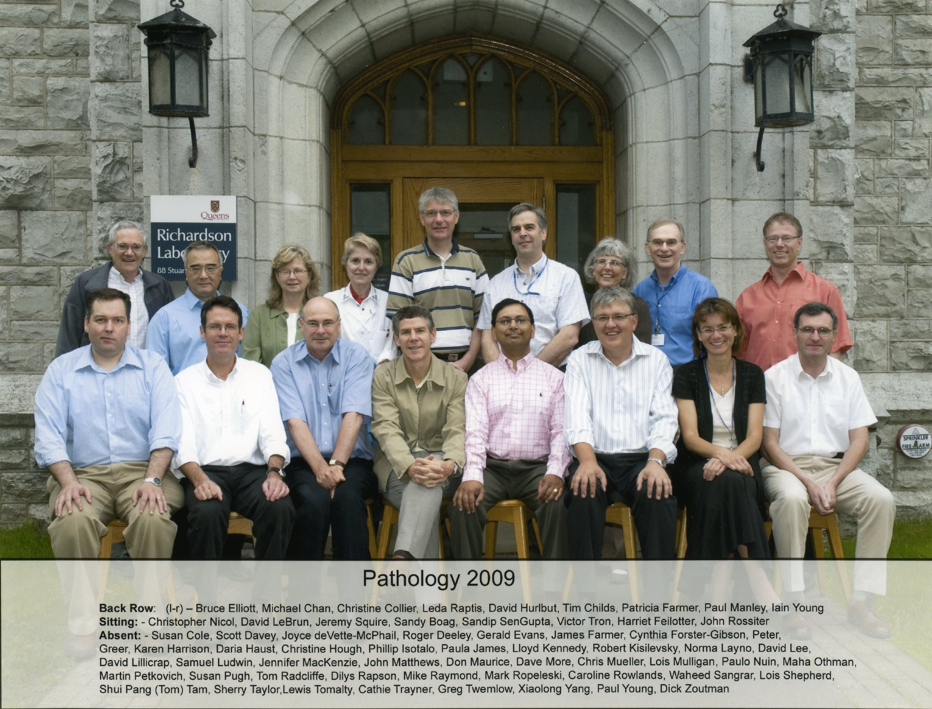 2009 Faculty Group Photo
