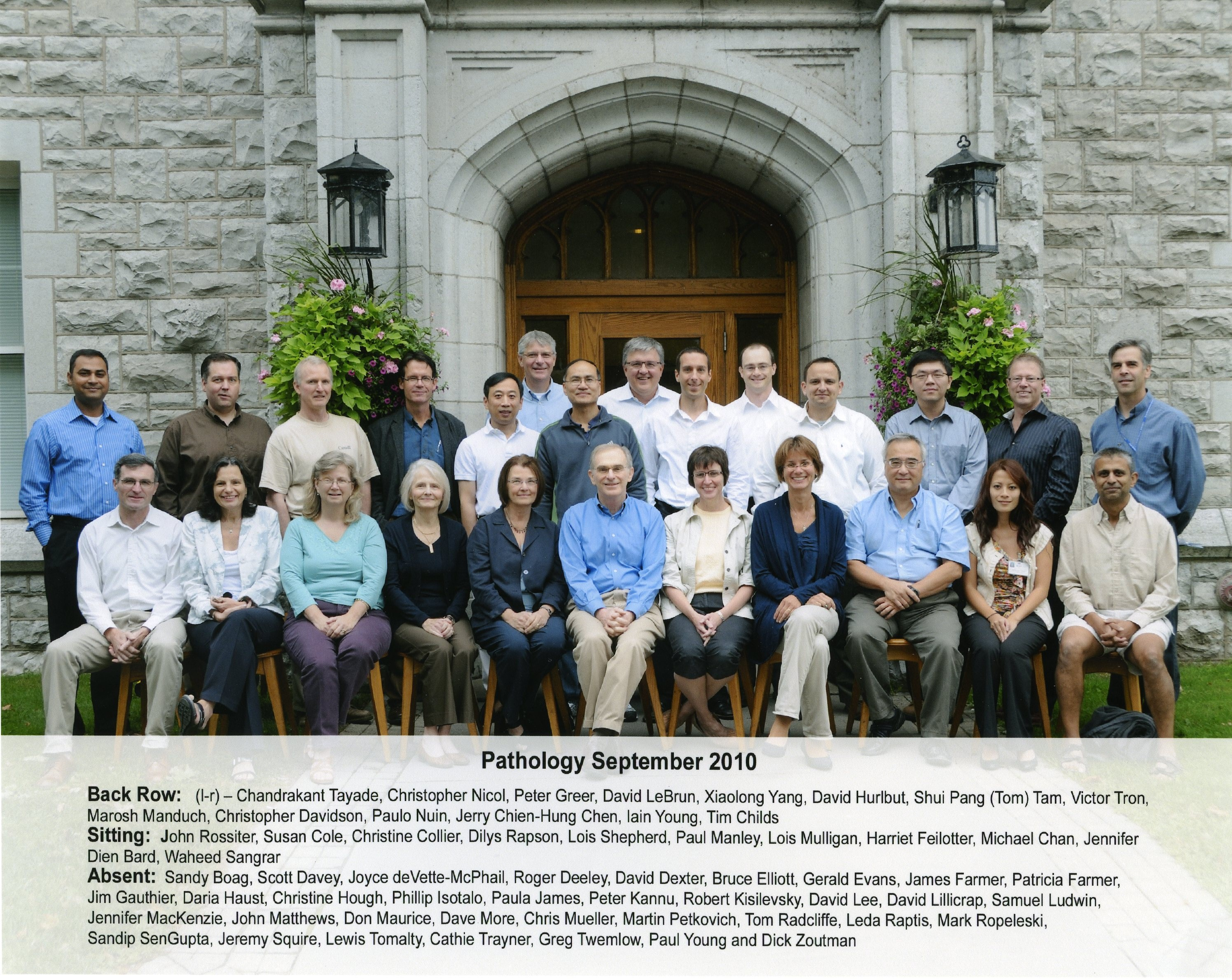 2010 Faculty Group Photo