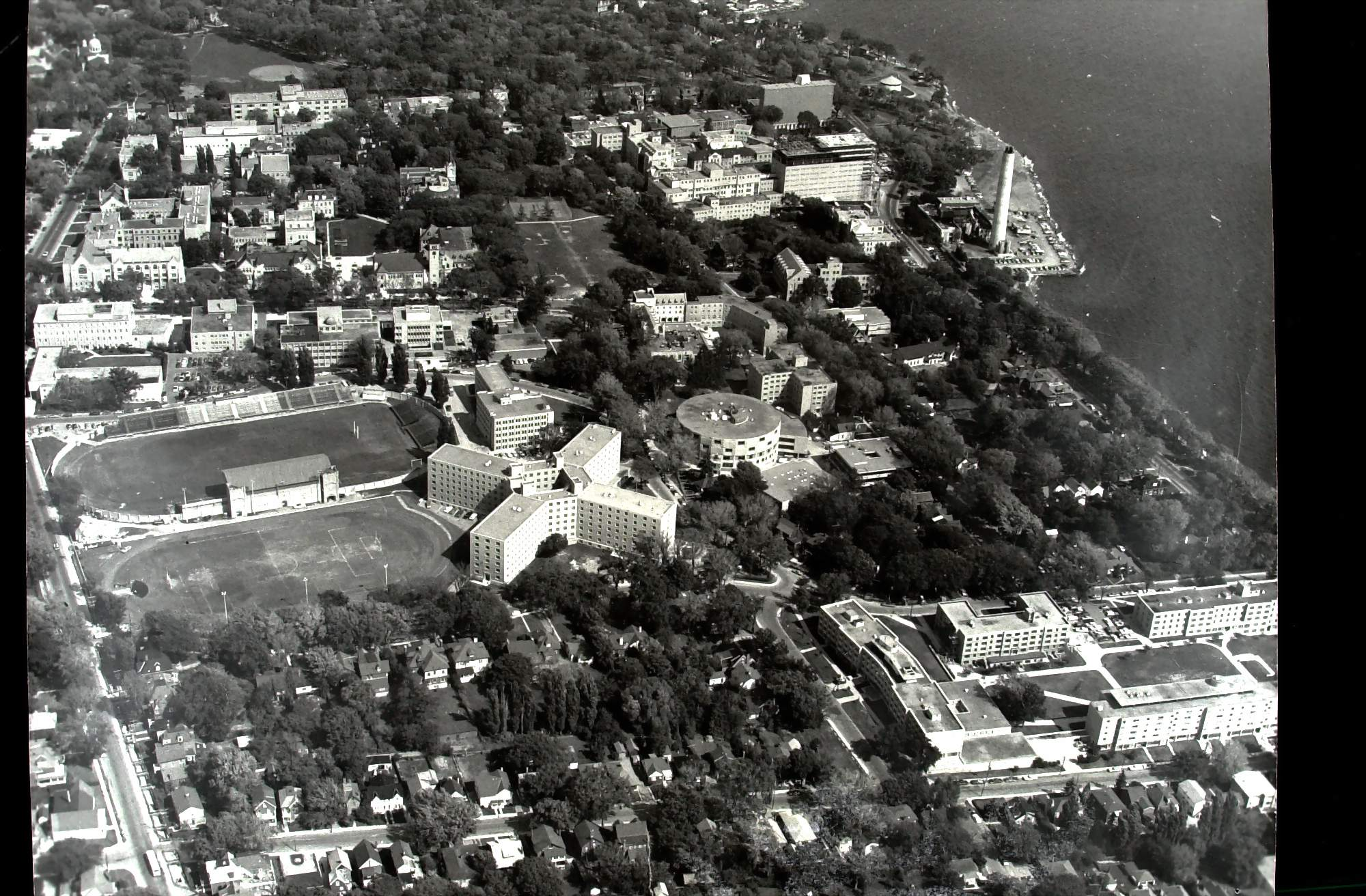 Aerial Queen's University and KGH Post 1968 and Pre 1971
